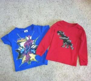 Dinosaur Shirt - giving kids choices