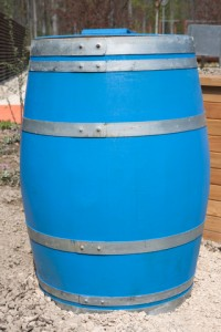 Barrel for toys in garage