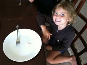Child finished Dinner